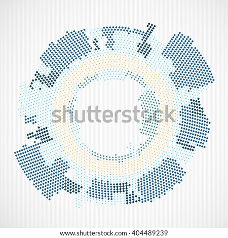 Abstract halftone theme background. Vector