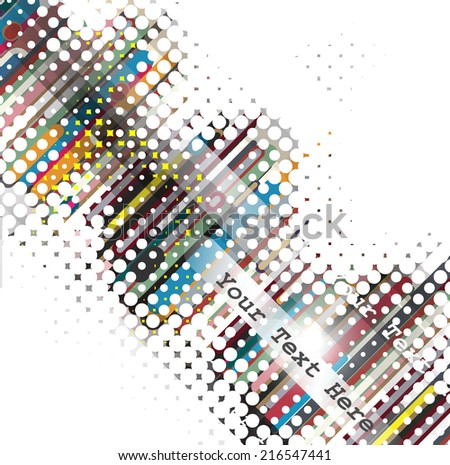 Abstract Halftone Vector Background