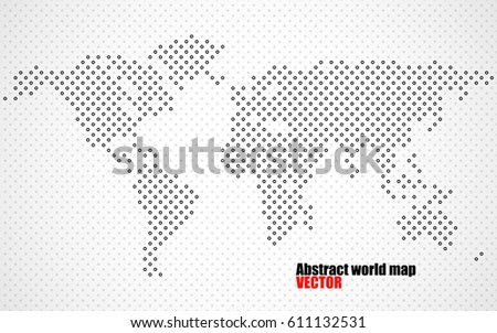 Abstract halftone world map vector stock vector 611132531 shutterstock abstract halftone world map vector gumiabroncs Image collections