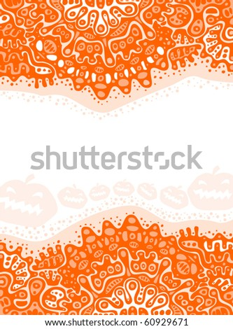 abstract halloween background - stock vector