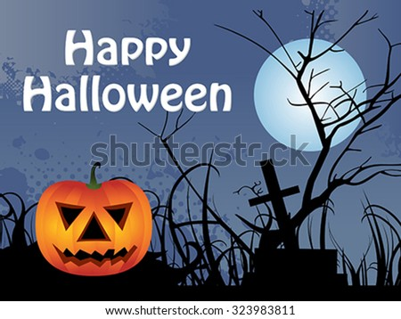 abstract halloween background vector illustration - stock vector