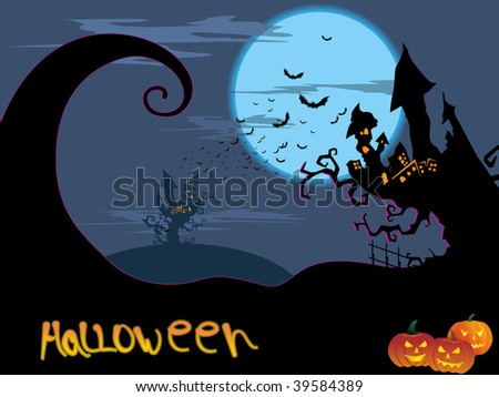 abstract halloween background, vector image
