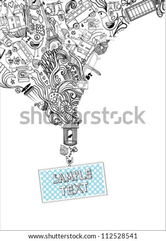 abstract hand drawn background - stock vector