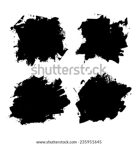Abstract hand drawn background. Vector set. Painted grunge texture.  - stock vector