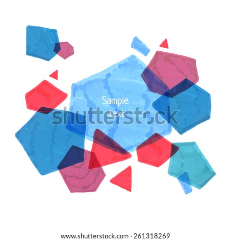 Abstract hand-drawn seamless polygonal template. Marker geometric element texture background. Overlapped rectangles, triangles, pentagons and hexagons. - stock vector