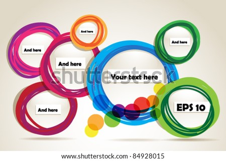 Abstract hand-drawn talking bubbles set - stock vector
