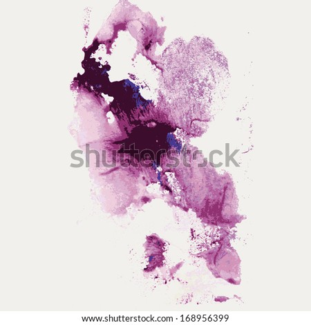 Abstract hand drawn watercolor background - stock vector