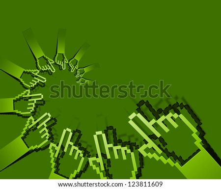 Abstract Hand Symbol Pattern Vector Design - stock vector