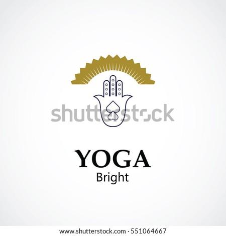 Abstract Hand Symbol Vector Illustration Yoga Stock Vector 551064667