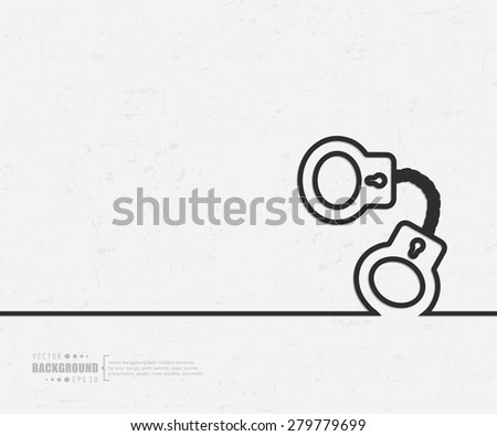Abstract handcuffs vector background. For web and mobile applications, illustration template design, creative business info graphic, brochure, banner, presentation, concept poster, cover, booklet, document. - stock vector