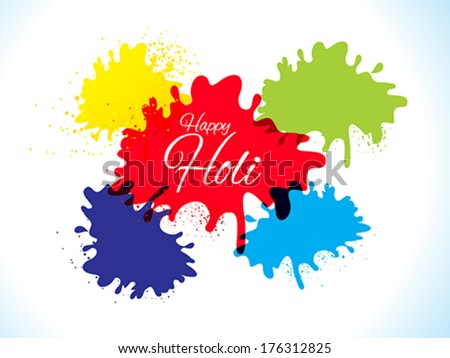 abstract happy holi background vector illustration - stock vector