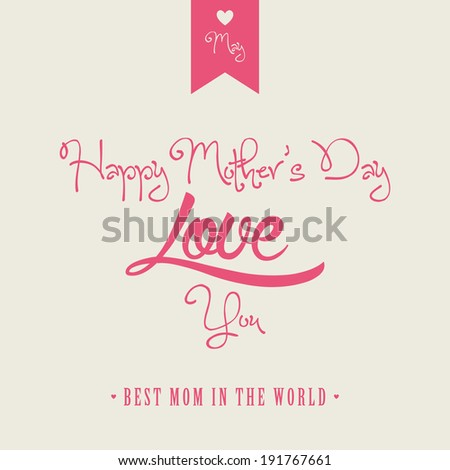abstract happy mother's day background with special objects