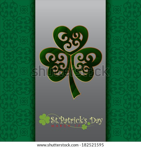 Abstract Happy St.Patrick Day Greeting With Green. Vector Illustration, EPS 10 - stock vector