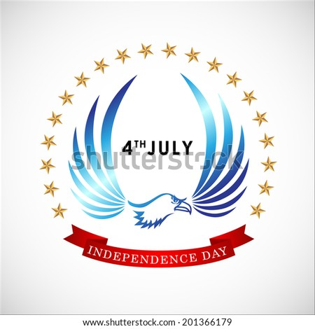 Abstract Happy 4th of July, Memorial Independence Day , Vector Illustration, EPS 10. - stock vector