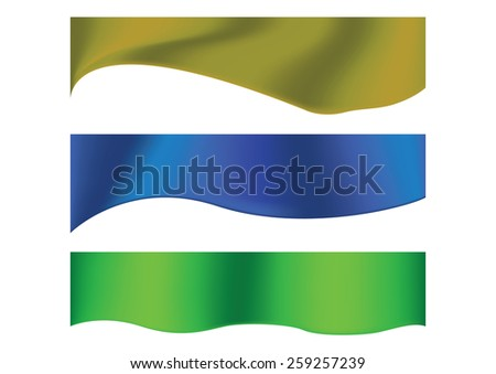 Abstract header blue gold and green wave vector design - stock vector
