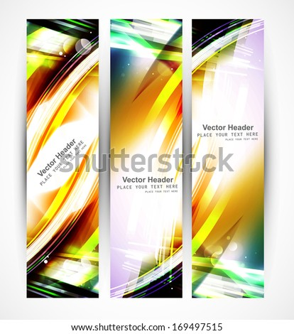 Abstract header colorful stylish wave whit vector design - stock vector