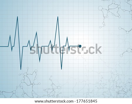 Abstract heart beats cardiogram illustration - vector  - stock vector