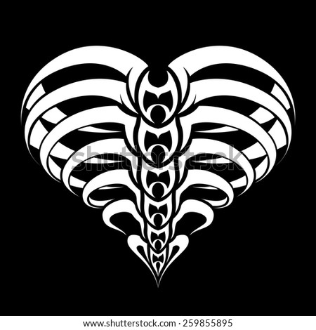 abstract heart design stock vector. Black Bedroom Furniture Sets. Home Design Ideas
