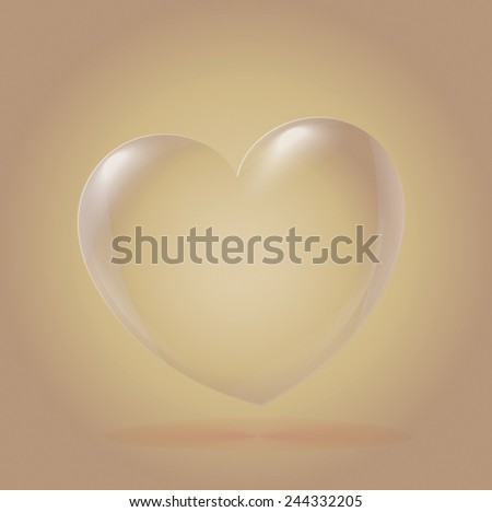Abstract Heart Icon, beige - stock vector