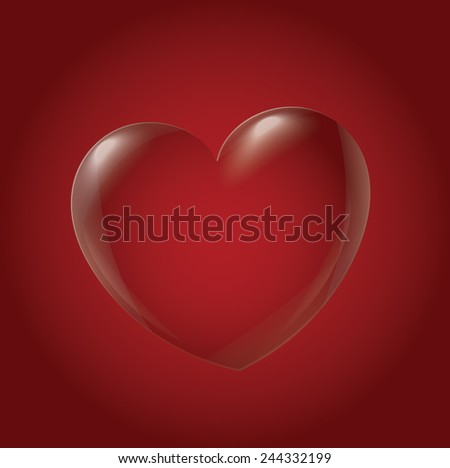 Abstract Heart Icon, red - stock vector