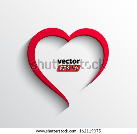 abstract heart / vector illustration eps 10 - stock vector