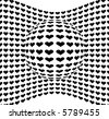 Abstract Hearts Design Pattern - Vector - stock photo