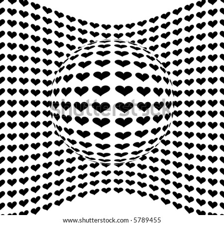 Abstract Hearts Design Pattern - Vector - stock vector