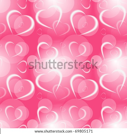 Abstract hearts seamless background, eps10 - stock vector