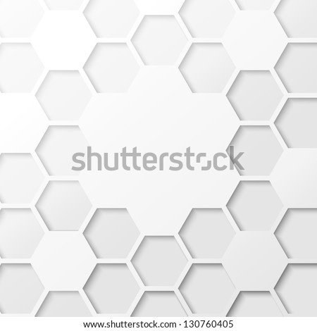 Abstract hexagon background. Vector illustration, contains transparencies, gradients and effects. - stock vector