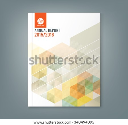 Abstract hexagon cube pattern background design for corporate business annual report book cover brochure flyer poster - stock vector