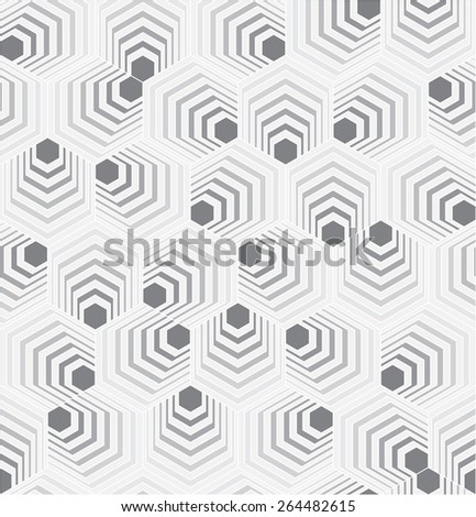 Abstract Hexagon Pattern - stock vector
