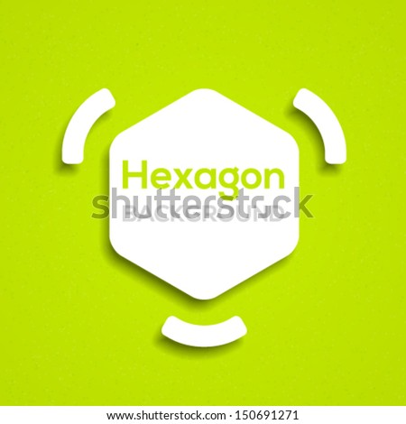 Abstract hexagon template with frame. Vector illustration. - stock vector