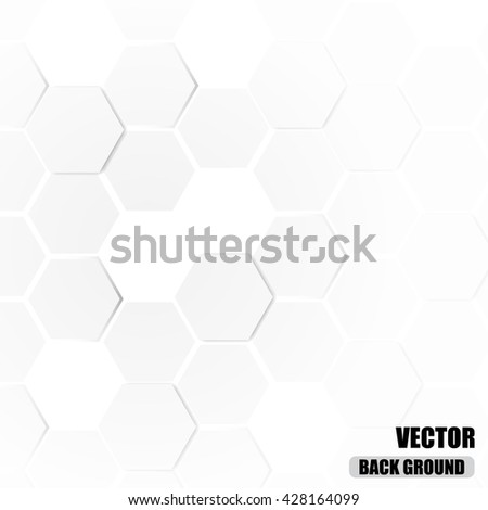 abstract hexagonal 3d background, vector illustration