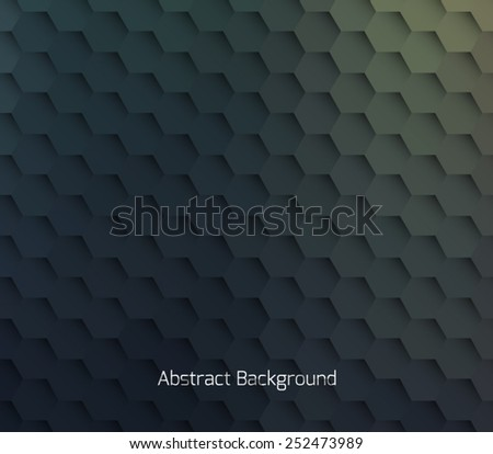 Abstract hexagonal molecule background. Futuristic, technology, biological, clean and modern style