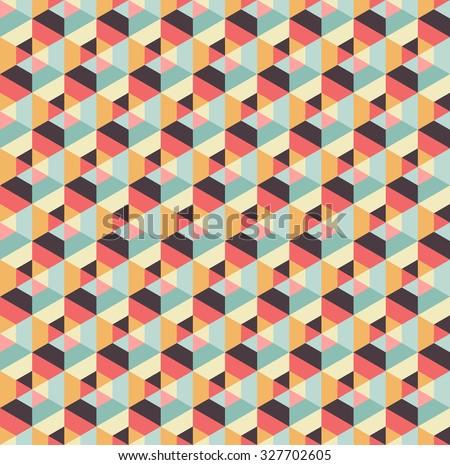Abstract hexagonal seamless pattern. Vector background. Geometric texture - stock vector