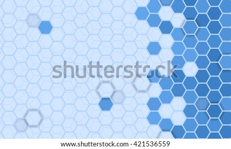 Abstract hexagons pattern background - stock vector