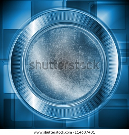Abstract hi-tech background with grunge style. Eps 10 vector design