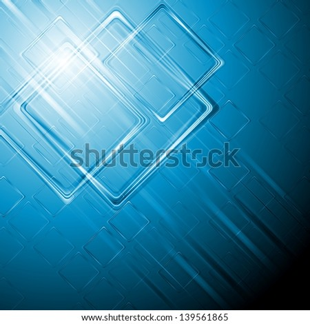 Abstract hi-tech blue background. Vector design eps 10