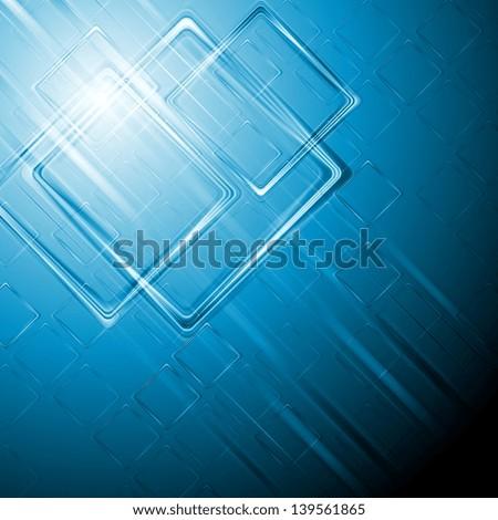 Abstract hi-tech blue background. Vector design eps 10 - stock vector