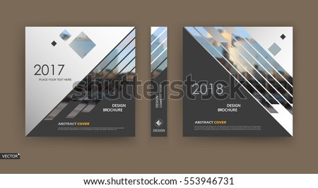Abstract Binder Layout White A4 Brochure Stock Vector