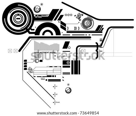 Abstract hi-tech composition - stock vector
