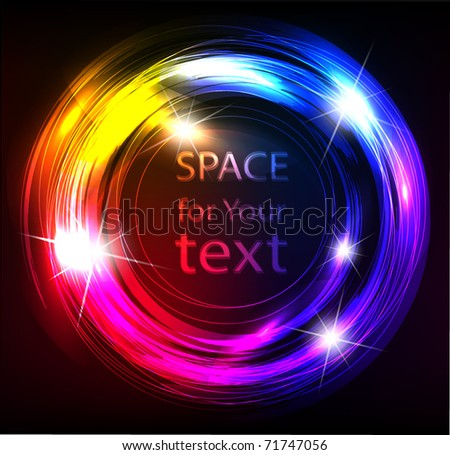 abstract hi-tech frame - stock vector