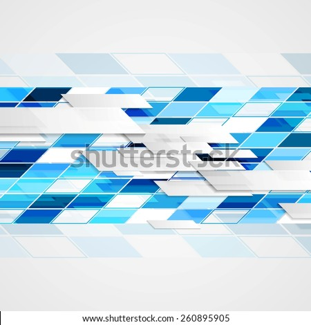 Abstract hi-tech geometric bright background. Vector design - stock vector