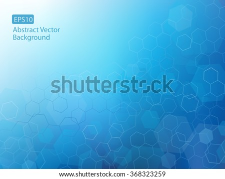 Abstract high resolution EPS10 vector illustration of blue faded hexagonal/geometric layered design background perfect for Medical, Healthcare, Science or any other Businesses. Plenty of copy space. - stock vector