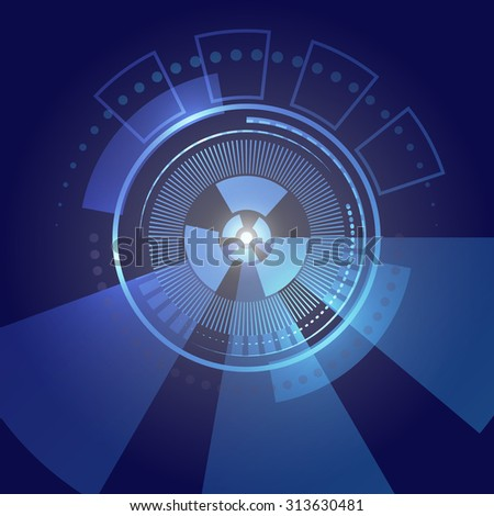 Abstract high tech blue background. - stock vector