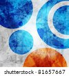abstract high-tech graphic design circles pattern background - stock photo