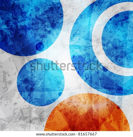 abstract high-tech graphic design circles pattern background - stock vector