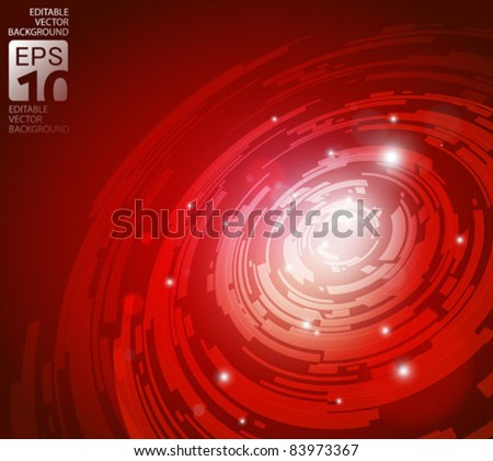 abstract high tech red vector background