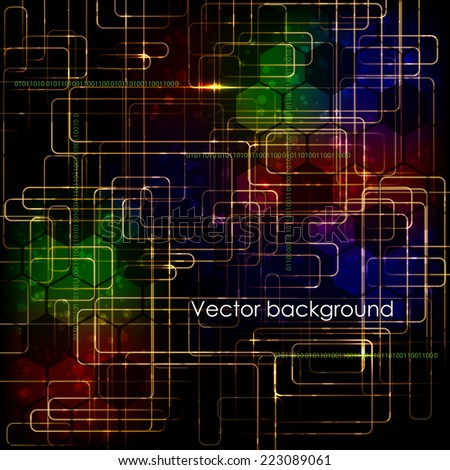 Abstract high technology computer business vector background.  - stock vector