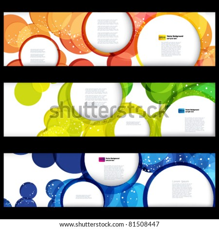 Abstract horizontal banners with forms of empty frames for your www design. - stock vector